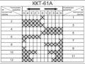 Диаграмма замыкания контакторов контроллера ККТ-61А